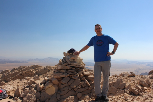 Dan on the summit of Jebel Qatar