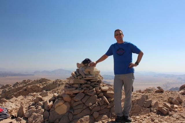 Dan on the summit of Jebel Qatar