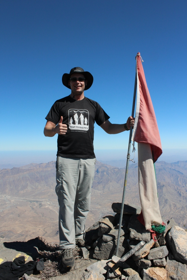 Yours truly at the southern summit of Jebel Shams