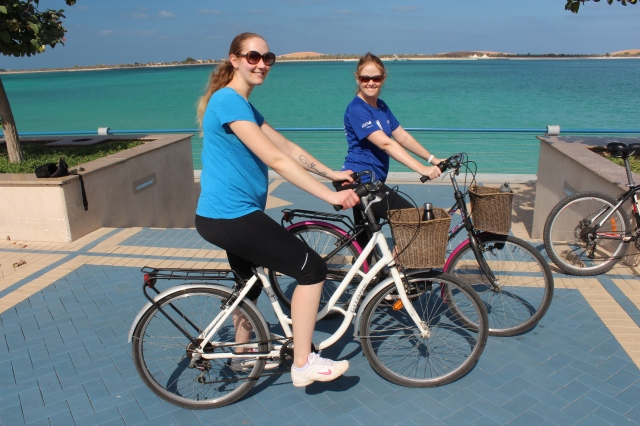 Bike riding on the Corniche