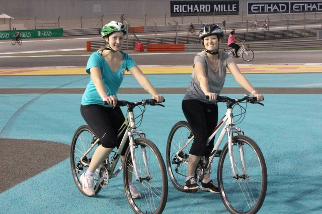 More bike riding on the F1 track