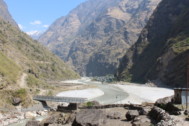 Village of Tal in picturesque valley