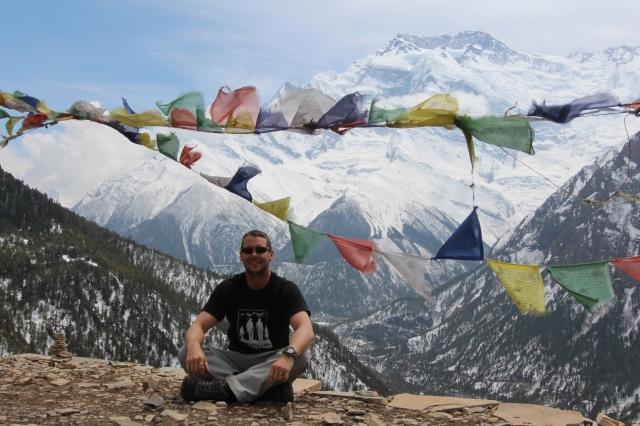 Dan in Ghyaru with Annapurna II behind