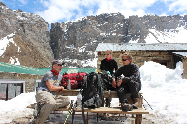 Lunch at 4200m
