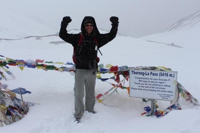 Made it.  Thorong La pass at 5416m.