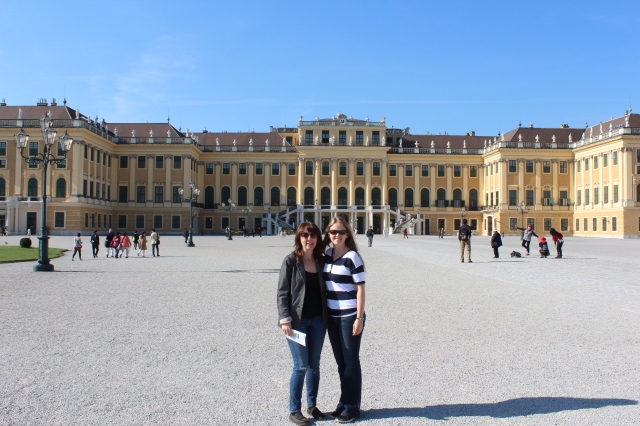 Bec & Jami outside Schonnbrun Palace