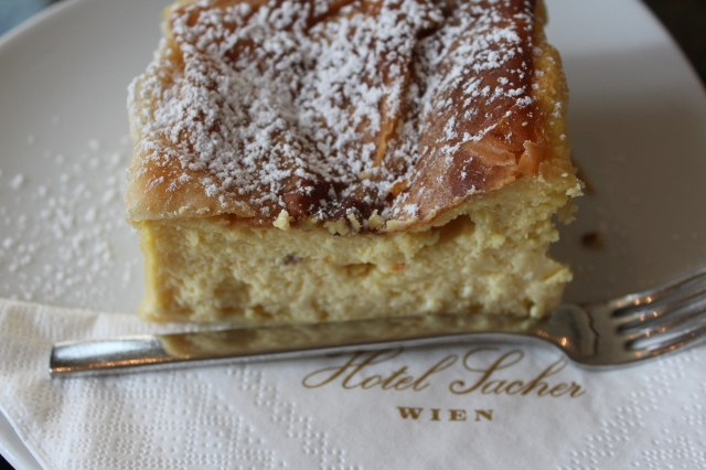 Topfenstrudel at Hotel Sacher