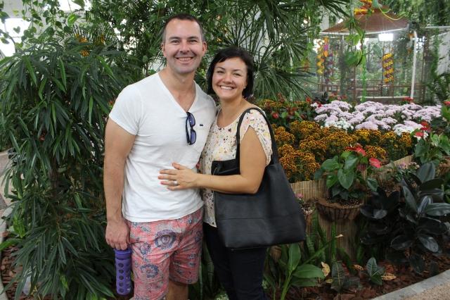 Spence and Jenn inside the Butterfly Garden