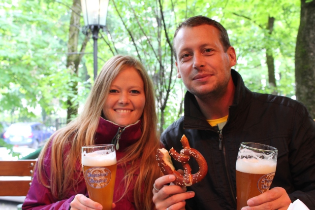 Mmm...beer and pretzels