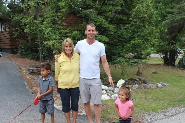 Mom and Dan with the kiddos