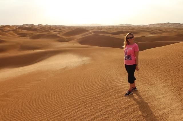 Becca on the dunes