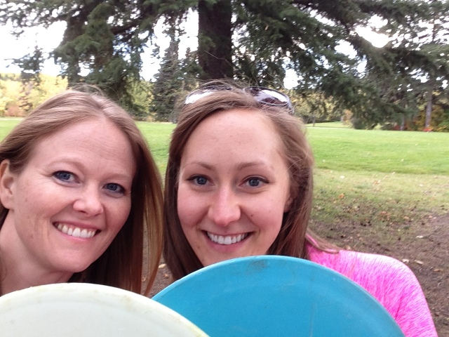 First time Frisbee golfers