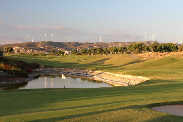 Hole 18 of Aphrodite Hills