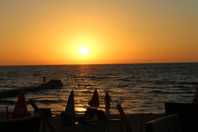 Ahh...a Mediterranean sunset, pretty tough to beat!