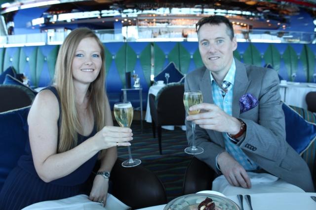 Cheers at the Burj al Arab