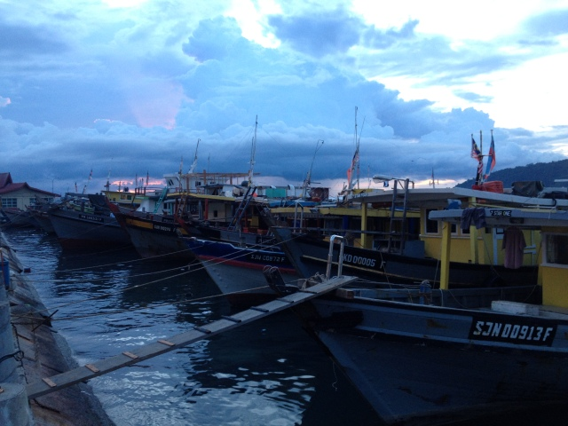 Fishing boats at Kota Kinabalu Waterfront