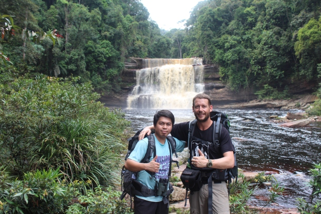 Jason and Dan at Maliau Falls