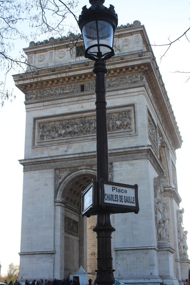 The famous Arc de Triomphe