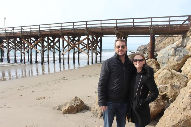 Dan and Bec on the California coast