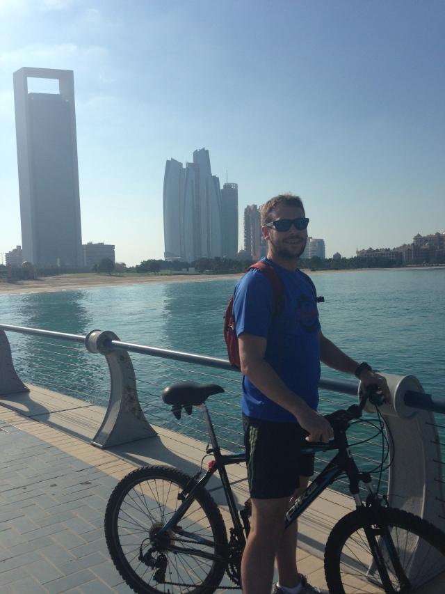 Dan bike riding