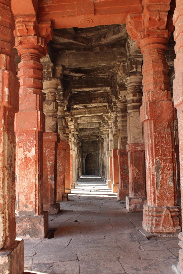 Ancient Pillars in Bharat Mata Temple