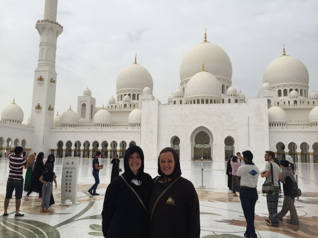 Sisters at the Grand Mosque
