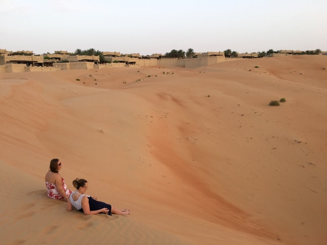 Girls chilling on the dunes