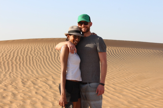 Scott and Jenelle in the Al Khazna dunes