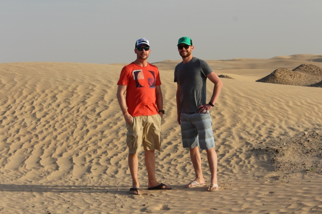 Dan & Scott post desert drive