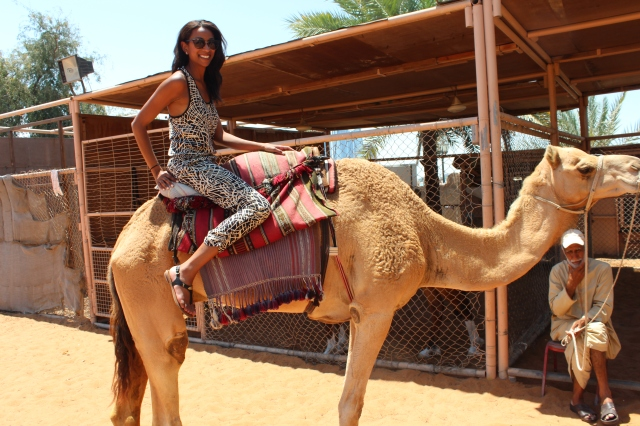 Jenelle on Tufan, a prized dromedary