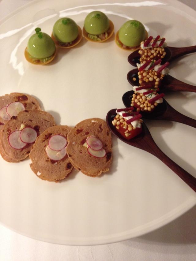 Fancy appies at Maison Lameloise