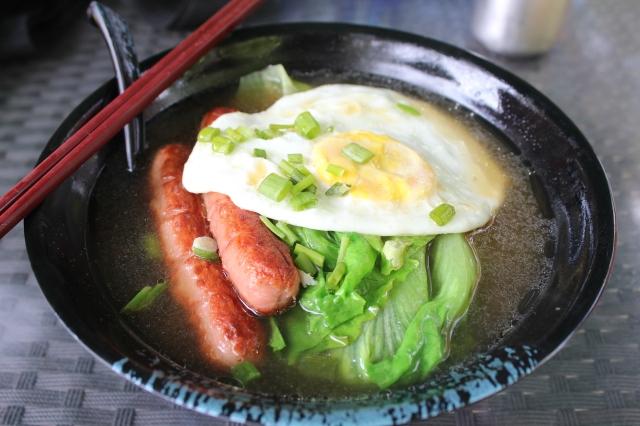 Noodle soup for breakfast