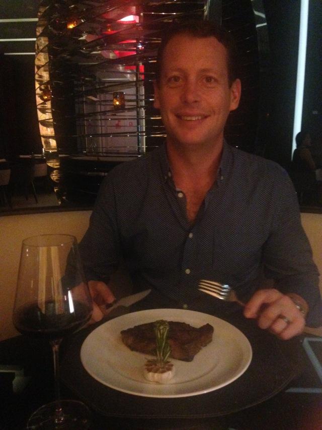 Dan can't resist a good steakhouse