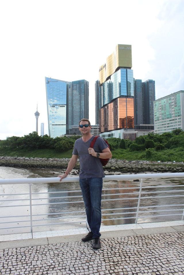 Dan with MGM Macau in background