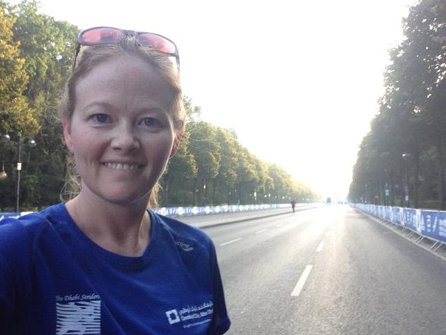 Selfie Running in Tiergarten