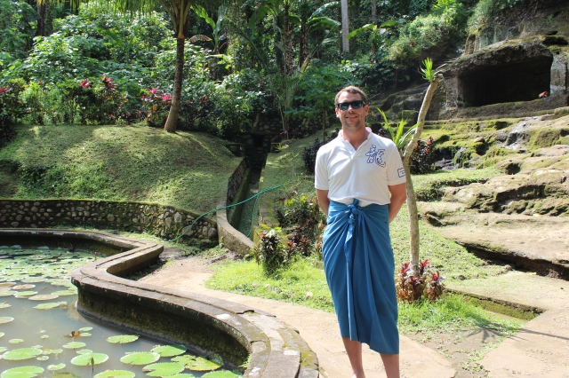 Dan in Goa Gajah (or Elephant Cave) Temple