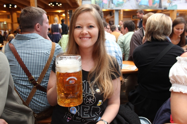 Bec with a maas of Oktoberfest bier...Prost!