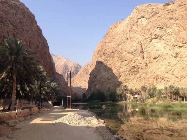 Water to cross at start of Wadi Shab