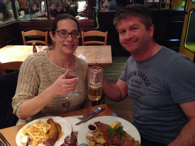 Dinner at the Berliner Republic. Prost!