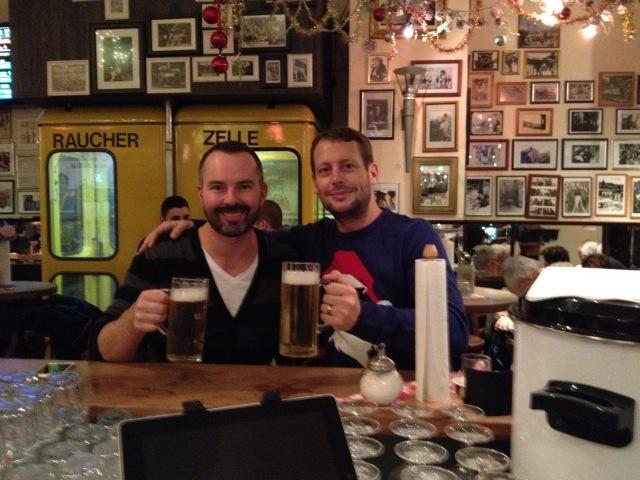 Spence and Dan in the Berliner Republic
