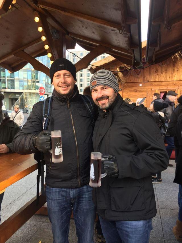 Dan and Spence enjoying a beverage