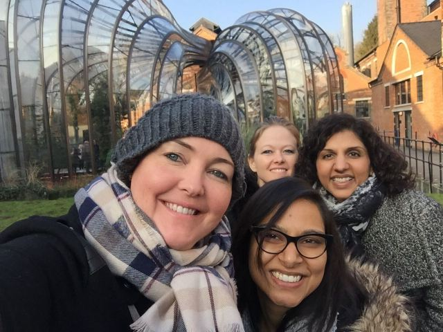 Girls at the Bombay Sapphire Distillery