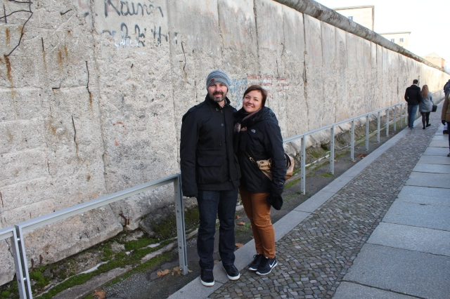 Spence and Jenn at Berlin Wall