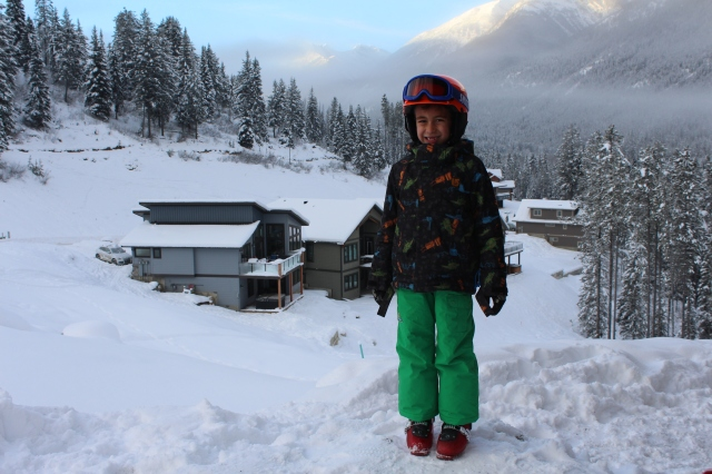 Wyatt ready for skiing