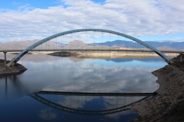 Bridge over Theodore Roosevelt Reservoir